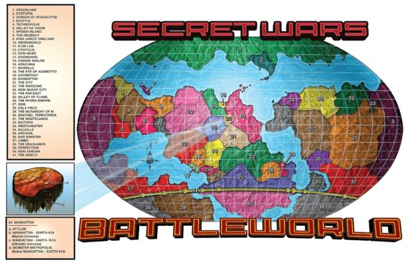 Secret Wars 2015 (Battleworld Mapa)
